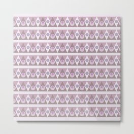 Geometric background pink pattern - circles, triangles, vector. Metal Print