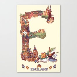 E is for England Canvas Print