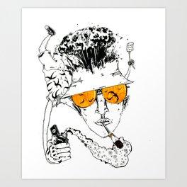 Fear and Cigarettes Art Print