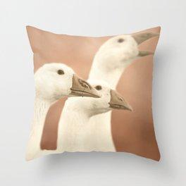 Family Portait goose Throw Pillow