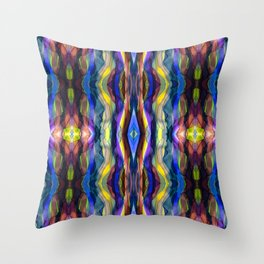 Hand Painted Waves Throw Pillow