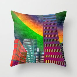 the colored city -2- Throw Pillow