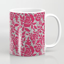 Red grey lace lace Coffee Mug