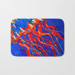 Red Jellyfish Bath Mat
