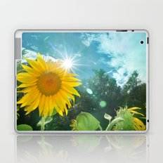 Sunflower. Vintage Laptop & iPad Skin