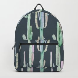 Cactus Stack on Navy Backpack