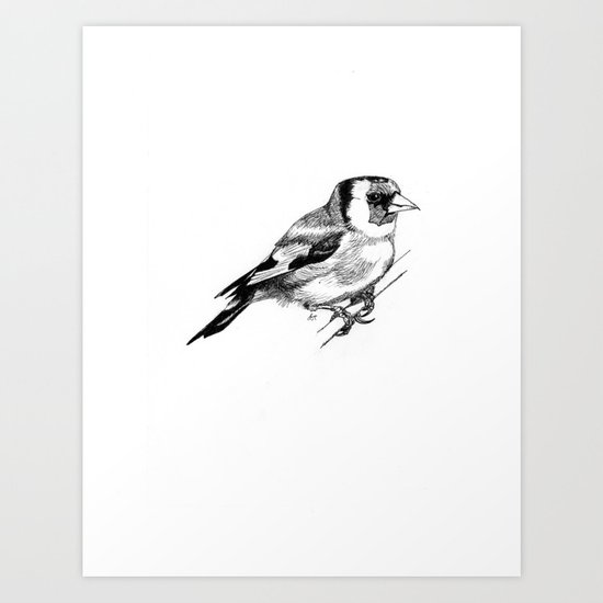 Solitary European Goldfinch Art Print