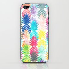 Hawaiian Pineapple Pattern Tropical Watercolor iPhone & iPod Skin