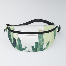 Green cactus Fanny Pack
