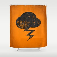 misfits Shower Curtains featuring Cloud and Storm by Nxolab