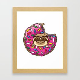 Kawaii Sloth Framed Art Print