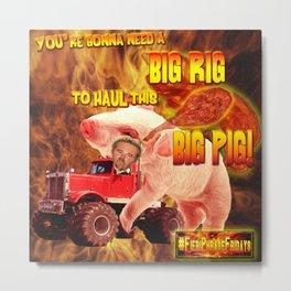 Guy Fieri in his Big Rig Metal Print