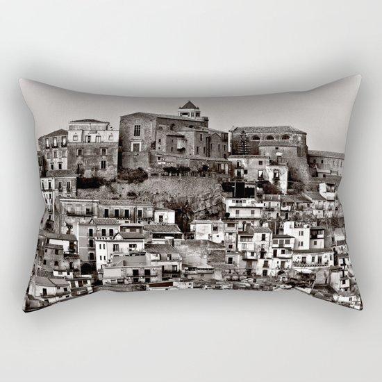 Sicilian Mountain Village Rectangular Pillow