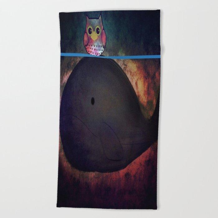 owl&whale-18 Beach Towel