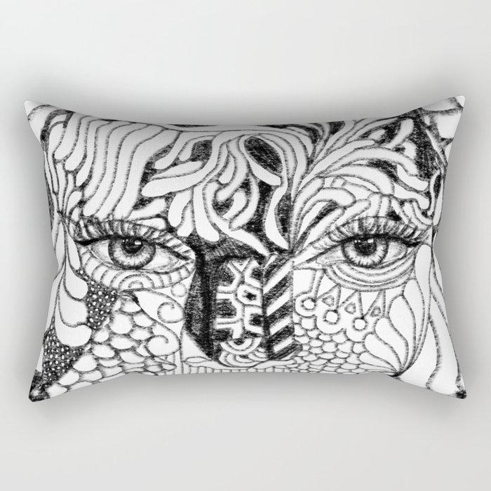 Her Beauty Rectangular Pillow
