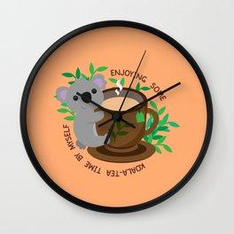 Koala-Tea Time Wall Clock