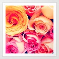 Roses Only Art Print