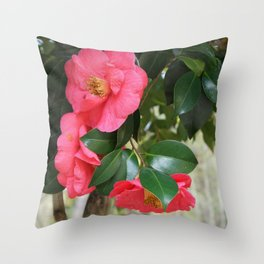 camellia flower Throw Pillow