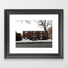 Mid-Twentieth Century Apartment in Hartford, CT Framed Art Print