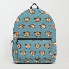 Pitbull Loaf - Fawn Pit Bull with Floppy Ears Backpack
