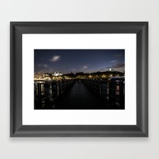 More of the Thames at Night. Framed Art Print