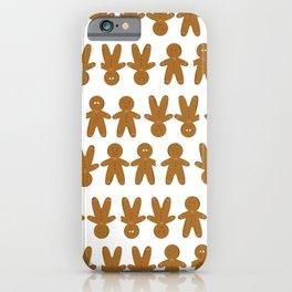 Gingerbread man cookies iPhone Case