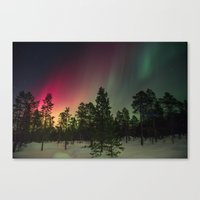 northern lights Canvas Prints featuring Northern Lights  by Limitless Design
