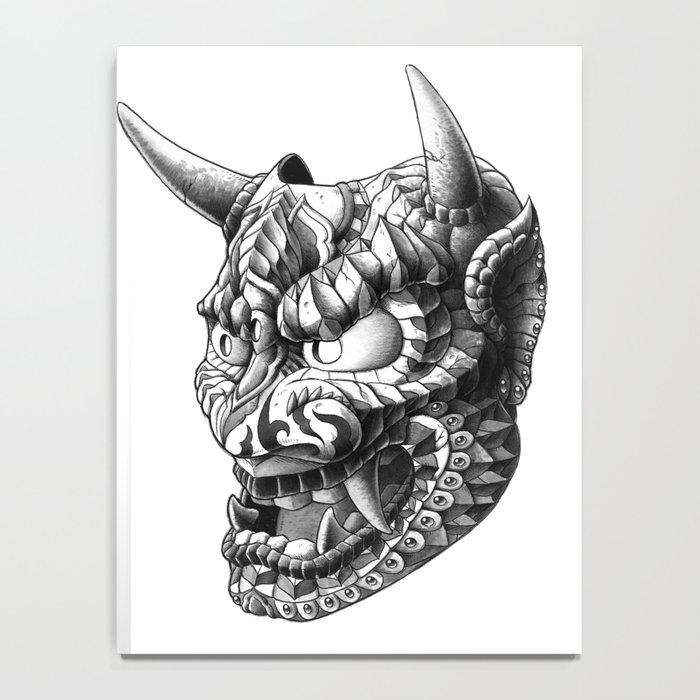 Japanese Demon Mask v.1 Notebook