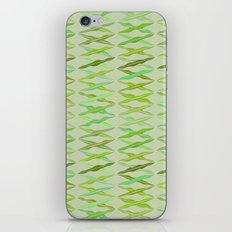 crisscrossed leaves iPhone Skin