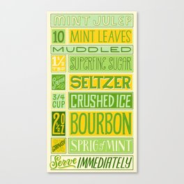 Mint Julep Canvas Print