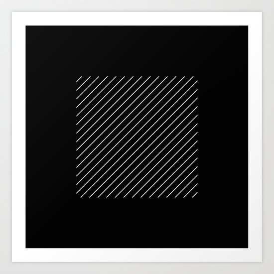 Minimalism - Black and white, geometric, abstract Art Print