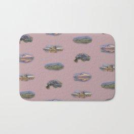 Highland Landmarks in pink Bath Mat