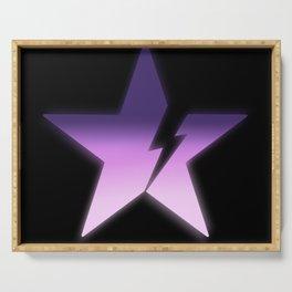 Black star bold Serving Tray