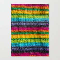 Rainbow In Wool Canvas Print