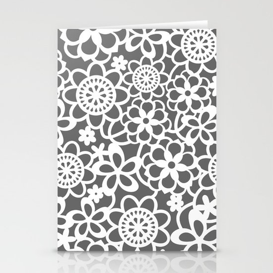 Filigree Floral Lace Stationery Cards