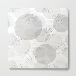 Geometric Bubble Pattern Metal Print