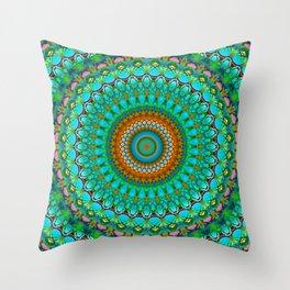 Geometric Mandala G388 Throw Pillow