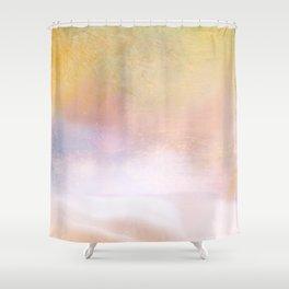 Summer Sunset Ocean Mist Minimalism Shower Curtain