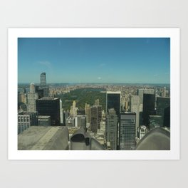 Central Park Aerial View Art Print