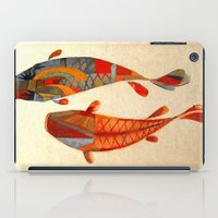 rug iPad Cases featuring Kolors Koi by Fernando Vieira