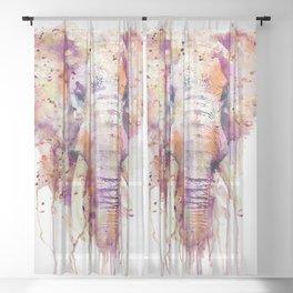 Elephant Head Sheer Curtain