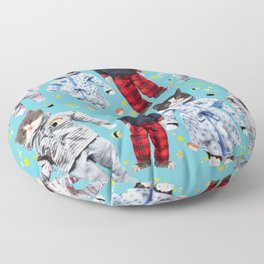 Cat Naps & Sushi Dreams by Crow Creek Cool Floor Pillow