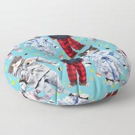 Cat Naps & Sushi Dreams by Crow Creek Coolture Floor Pillow