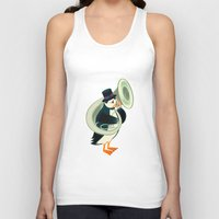 puffin Tank Tops featuring Puffin On A Tuba by Oliver Lake