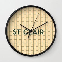 ST. CLAIR | Subway Station Wall Clock