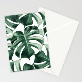Tropical Monstera Leaves Dream #2 #tropical #decor #art #society6 Stationery Cards