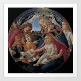 My Boticelli Serie : Madonna of the Magnificat Art Print