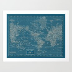 The World According to US Art Print