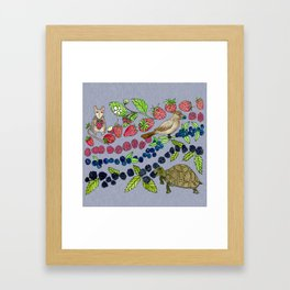 Summer Snack Time by Offhand Designs Framed Art Print