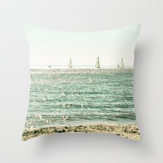 These Summer Days Throw Pillow